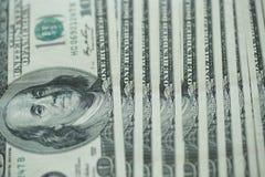 Предпосылка банкнот денег доллара США денег доллара США Стоковые Фото
