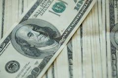 Предпосылка банкнот денег доллара США Стоковые Фото