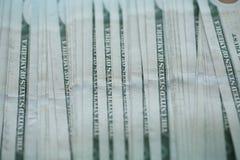 Предпосылка банкнот денег доллара США Стоковое Фото