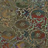 Предпосылка батика винтажного штофа флористическая Стоковая Фотография RF