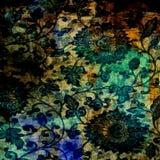 Предпосылка батика Grunge год сбора винограда Стоковое фото RF