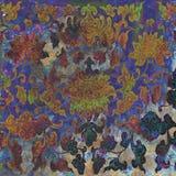 Предпосылка батика Grunge флористическая Стоковое фото RF