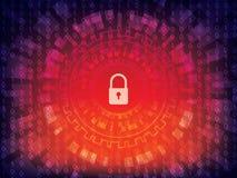 Предпосылка безопасностью кибер Стоковое Изображение RF