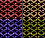 Предпосылка - безшовная текстура - деревянные кресты Стоковые Фото