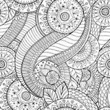 Предпосылка безшовного цветка ретро в векторе Стоковая Фотография RF