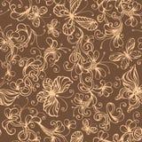 Предпосылка безшовного duotone флористическая Стоковая Фотография