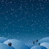 Предпосылка безшовной зимы горизонтальная для вашего дизайна рождества Стоковое Фото