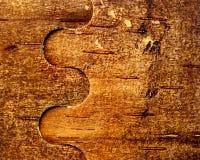 Предпосылка березовой древесины с сплетя картиной Стоковое Фото