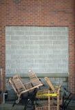 Предпосылка бетона и кирпичной стены Стоковое Изображение RF