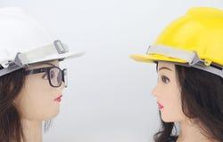 Предпосылка белизны изолята модели шлема безопасности Стоковая Фотография