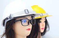 Предпосылка белизны изолята модели шлема безопасности Стоковое Фото
