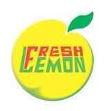 Предпосылка белизны лимона логотипа свежая Стоковое Изображение RF