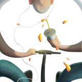 Предпосылка белизны иллюстрации солнечного дня людей Стоковая Фотография RF