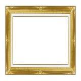 Предпосылка белизны картинной рамки золота Стоковое Изображение RF