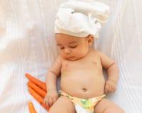 Предпосылка белизны кашевара шеф-повара младенца Стоковые Фотографии RF