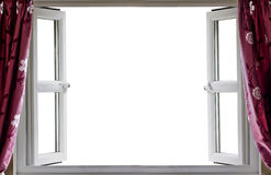 Предпосылка белизны открытого окна Стоковое Изображение