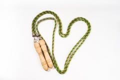 Предпосылка белизны скачки веревочки Стоковая Фотография RF