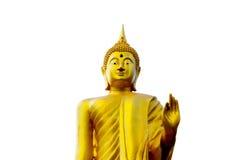 Предпосылка белизны статуи Будды Стоковое Фото