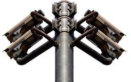 Предпосылка белизны CCTV Стоковая Фотография RF