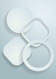 предпосылка белой бумаги 3d Стоковые Изображения RF