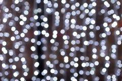 Предпосылка белых светов абстрактная Стоковая Фотография RF