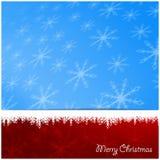 Предпосылка белых снежинок зимы на рождество и Новый Год Стоковые Изображения RF