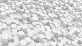 Предпосылка белых шестиугольников абстрактная Стоковое фото RF
