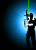 Предпосылка бирки лазера Стоковое фото RF