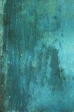 Предпосылка бирюзы металла ржавая Стоковые Фотографии RF