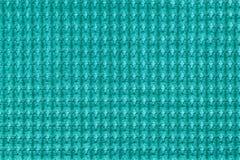 Предпосылка бирюзы от мягкого ворсистого конца ткани вверх Текстура макроса тканей Стоковые Изображения RF
