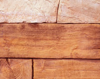 Предпосылка богатой текстуры каменной стены Стоковая Фотография RF