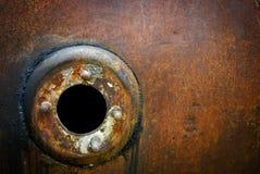 Предпосылка бочонка ржавого металла круговая Стоковая Фотография RF