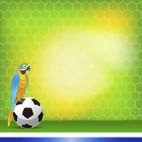 Предпосылка Бразилии и футбола Стоковое Изображение