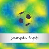 Предпосылка Бразилии футбола Стоковые Изображения