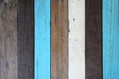 Предпосылка Брайна, белых и голубых деревянная Стоковое Изображение