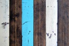 Предпосылка Брайна, белых и голубых деревянная Стоковое фото RF