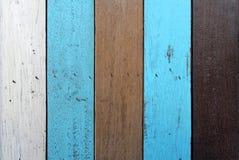 Предпосылка Брайна, белых и голубых деревянная Стоковое Изображение RF