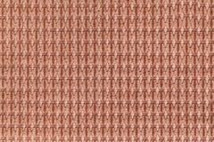 Предпосылка Брайна от мягкого ворсистого конца ткани вверх Текстура макроса тканей Стоковые Изображения RF