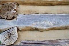 Предпосылка бревенчатой хижины Стоковое Изображение