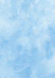 Предпосылка бумаги текстуры акварели чернил голубая Стоковые Фотографии RF