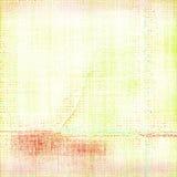 Предпосылка бумаги Grunge кислотно-желтого несенная метро сложенная Стоковые Фото