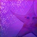 Предпосылка бумаги Grunge Nightime фиолетового искусства фиолетовая текстурированная Стоковые Изображения RF
