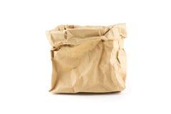 Предпосылка бумажной сумки чела морщинки изолированная Стоковое фото RF