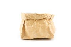 Предпосылка бумажной сумки чела морщинки изолированная Стоковые Изображения