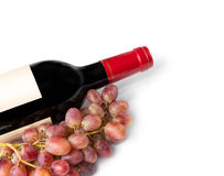 Предпосылка бутылки красного вина Стоковые Фотографии RF