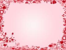 Предпосылка валентинки - рамка сердец Стоковое Изображение RF