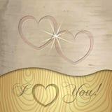 Предпосылка валентинок Святого вектора деревянная иллюстрация штока