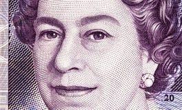 Предпосылка валюты фунта - 20 фунтов Стоковая Фотография RF