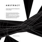 Предпосылка вектора абстрактная геометрическая, современная Стоковые Изображения