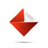 Предпосылка вектора абстрактная. Красный цвет и карточка иллюстрация вектора